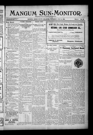 Primary view of Mangum Sun-Monitor. (Mangum, Okla.), Vol. 11, No. 29, Ed. 1 Thursday, July 11, 1901