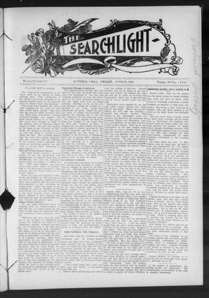 Primary view of object titled 'The Searchlight (Guthrie, Okla.), No. 531, Ed. 1 Friday, June 26, 1908'.