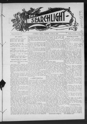 Primary view of object titled 'The Searchlight (Guthrie, Okla.), No. 530, Ed. 1 Friday, June 19, 1908'.