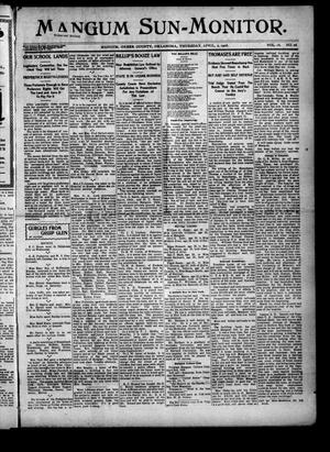 Primary view of Mangum Sun-Monitor. (Mangum, Okla.), Vol. 18, No. 26, Ed. 1 Thursday, April 2, 1908