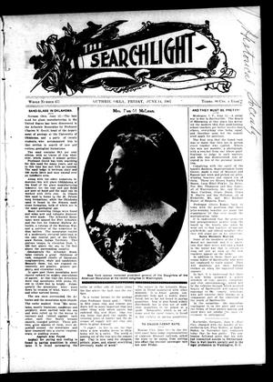 Primary view of object titled 'The Searchlight (Guthrie, Okla.), No. 477, Ed. 1 Friday, June 14, 1907'.