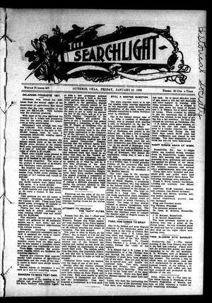 Primary view of object titled 'The Searchlight (Guthrie, Okla.), No. 507, Ed. 1 Friday, January 10, 1908'.