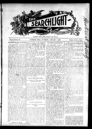 Primary view of object titled 'The Searchlight (Guthrie, Okla.), No. 454, Ed. 1 Tuesday, January 8, 1907'.
