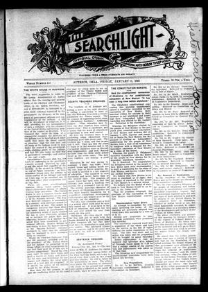 Primary view of object titled 'The Searchlight (Guthrie, Okla.), No. 455, Ed. 1 Friday, January 11, 1907'.