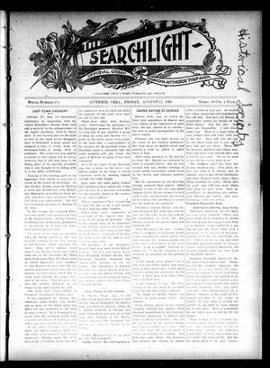 Primary view of object titled 'The Searchlight (Guthrie, Okla.), No. 414, Ed. 1 Friday, August 17, 1906'.