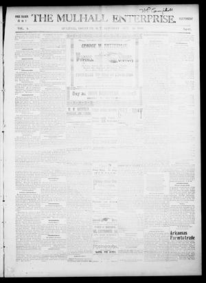 Primary view of The Mulhall Enterprise. (Mulhall, Okla. Terr.), Vol. 4, No. 41, Ed. 1 Saturday, October 16, 1897