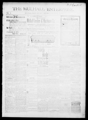 Primary view of object titled 'The Mulhall Enterprise. (Mulhall, Okla. Terr.), Vol. 2, No. 51, Ed. 1 Saturday, December 7, 1895'.