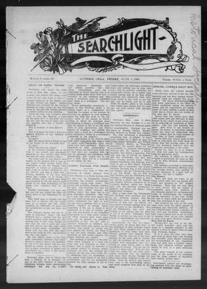 Primary view of object titled 'The Searchlight (Guthrie, Okla.), No. 528, Ed. 1 Friday, June 5, 1908'.