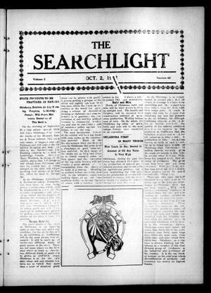 Primary view of object titled 'The Searchlight (Cushing, Okla.), Vol. 3, No. 46, Ed. 1 Wednesday, October 2, 1912'.