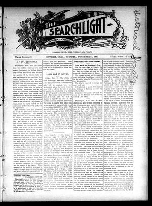 Primary view of object titled 'The Searchlight (Guthrie, Okla.), No. 439, Ed. 1 Tuesday, November 13, 1906'.