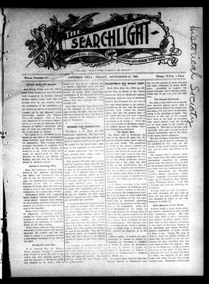 Primary view of object titled 'The Searchlight (Guthrie, Okla.), No. 426, Ed. 1 Friday, September 28, 1906'.