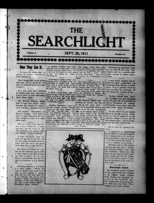 Primary view of object titled 'The Searchlight (Cushing, Okla.), Vol. 2, No. 44, Ed. 1 Wednesday, September 20, 1911'.
