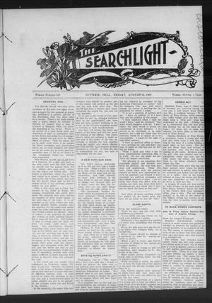 Primary view of object titled 'The Searchlight (Guthrie, Okla.), No. 538, Ed. 1 Friday, August 14, 1908'.