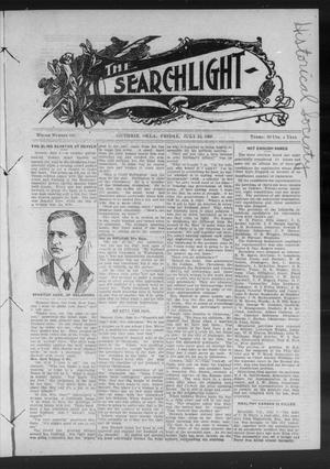 Primary view of object titled 'The Searchlight (Guthrie, Okla.), No. 533, Ed. 1 Friday, July 10, 1908'.