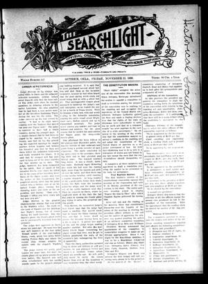 Primary view of object titled 'The Searchlight (Guthrie, Okla.), No. 442, Ed. 1 Friday, November 23, 1906'.
