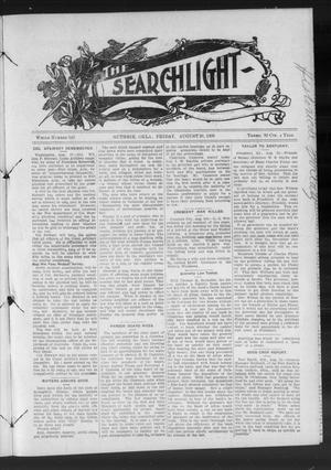 Primary view of object titled 'The Searchlight (Guthrie, Okla.), No. 540, Ed. 1 Friday, August 28, 1908'.