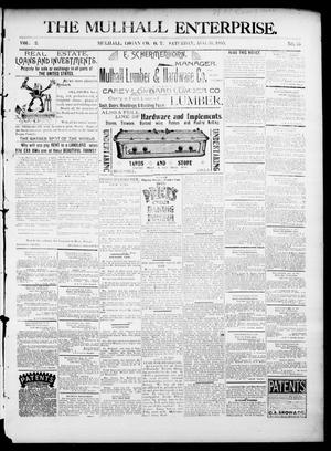 Primary view of object titled 'The Mulhall Enterprise. (Mulhall, Okla. Terr.), Vol. 2, No. 35, Ed. 1 Saturday, August 31, 1895'.