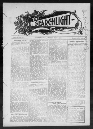 Primary view of object titled 'The Searchlight (Guthrie, Okla.), No. 523, Ed. 1 Friday, May 1, 1908'.