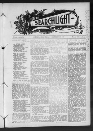 Primary view of object titled 'The Searchlight (Guthrie, Okla.), No. 544, Ed. 1 Friday, September 25, 1908'.