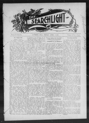 Primary view of object titled 'The Searchlight (Guthrie, Okla.), No. 519, Ed. 1 Friday, April 3, 1908'.