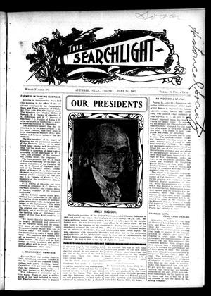 Primary view of object titled 'The Searchlight (Guthrie, Okla.), No. 483, Ed. 1 Friday, July 26, 1907'.
