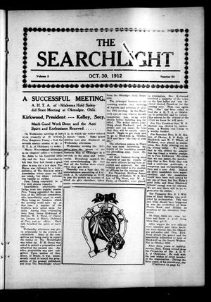 Primary view of object titled 'The Searchlight (Cushing, Okla.), Vol. 3, No. 50, Ed. 1 Wednesday, October 30, 1912'.