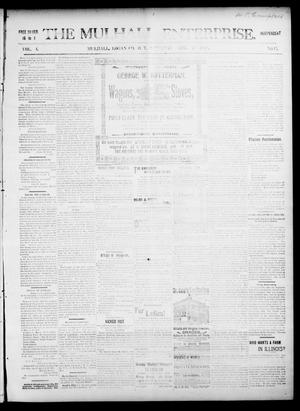 Primary view of object titled 'The Mulhall Enterprise. (Mulhall, Okla. Terr.), Vol. 4, No. 15, Ed. 1 Saturday, April 17, 1897'.
