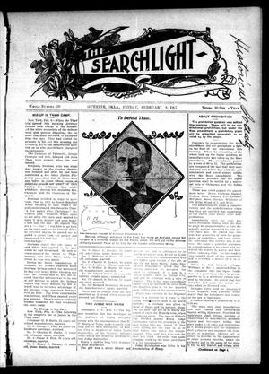 Primary view of object titled 'The Searchlight (Guthrie, Okla.), No. 459, Ed. 1 Friday, February 8, 1907'.