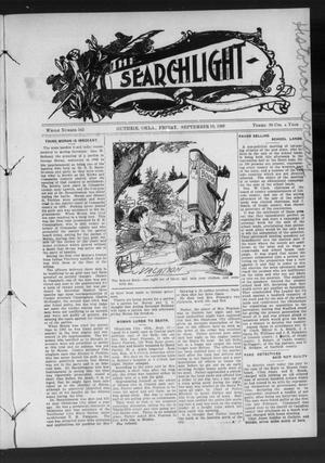 Primary view of object titled 'The Searchlight (Guthrie, Okla.), No. 543, Ed. 1 Friday, September 18, 1908'.