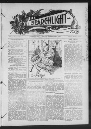 Primary view of object titled 'The Searchlight (Guthrie, Okla.), No. 542, Ed. 1 Friday, September 11, 1908'.
