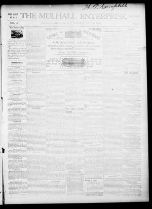 Primary view of object titled 'The Mulhall Enterprise. (Mulhall, Okla. Terr.), Vol. 3, No. 30, Ed. 1 Saturday, July 25, 1896'.
