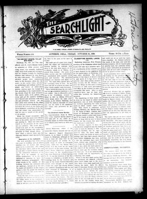 Primary view of object titled 'The Searchlight (Guthrie, Okla.), No. 434, Ed. 1 Friday, October 26, 1906'.