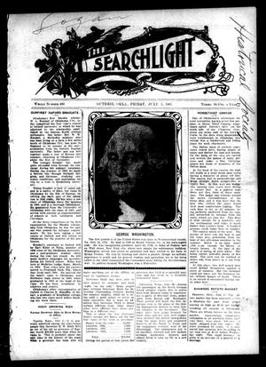 Primary view of object titled 'The Searchlight (Guthrie, Okla.), No. 480, Ed. 1 Friday, July 5, 1907'.