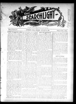Primary view of object titled 'The Searchlight (Guthrie, Okla.), No. 418, Ed. 1 Friday, August 31, 1906'.