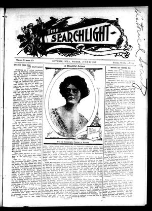 Primary view of object titled 'The Searchlight (Guthrie, Okla.), No. 479, Ed. 1 Friday, June 28, 1907'.