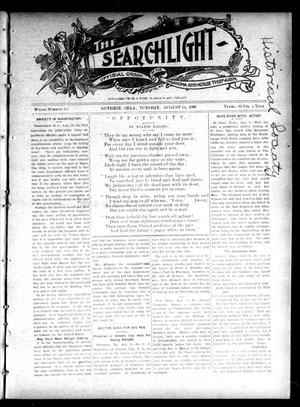 Primary view of object titled 'The Searchlight (Guthrie, Okla.), No. 413, Ed. 1 Tuesday, August 14, 1906'.