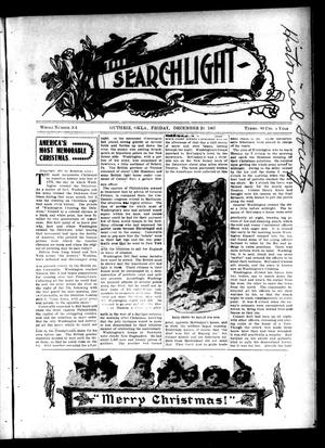 Primary view of object titled 'The Searchlight (Guthrie, Okla.), No. 504, Ed. 1 Friday, December 20, 1907'.