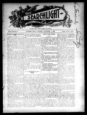 Primary view of object titled 'The Searchlight (Guthrie, Okla.), No. 445, Ed. 1 Tuesday, December 4, 1906'.