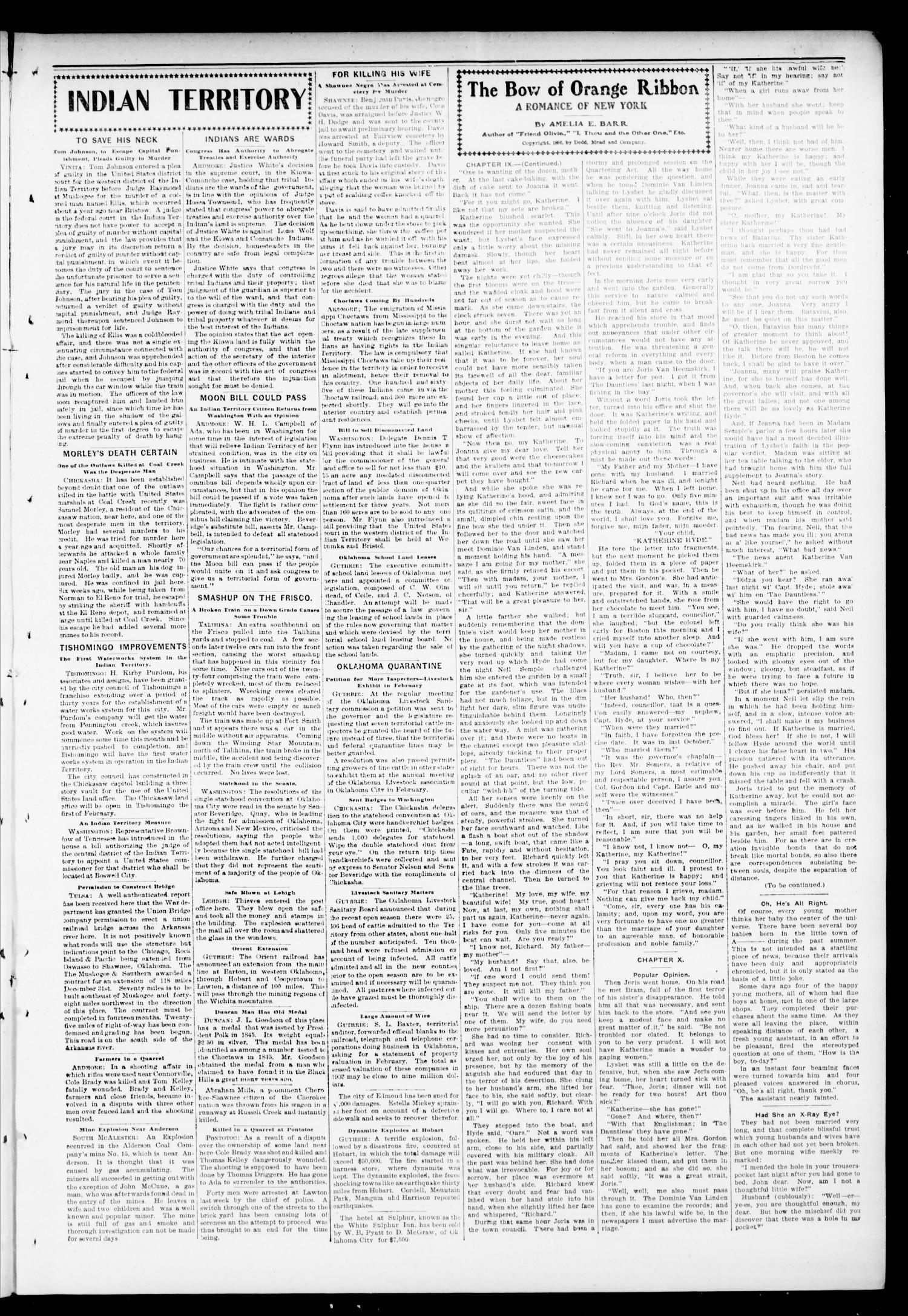 Mulhall Enterprise. (Mulhall, Okla.), Vol. 11, No. 3, Ed. 1 Friday, January 16, 1903                                                                                                      [Sequence #]: 3 of 8