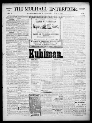 Primary view of object titled 'The Mulhall Enterprise. (Mulhall, Okla. Terr.), Vol. 4, No. 19, Ed. 1 Saturday, June 5, 1897'.