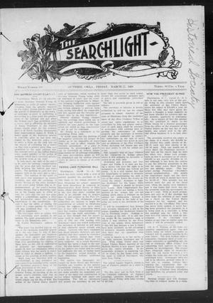 Primary view of object titled 'The Searchlight (Guthrie, Okla.), No. 518, Ed. 1 Friday, March 27, 1908'.
