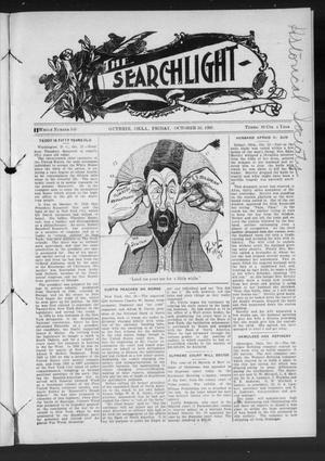 Primary view of object titled 'The Searchlight (Guthrie, Okla.), No. 549, Ed. 1 Friday, October 30, 1908'.