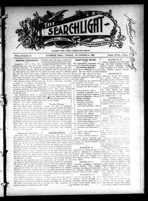 Primary view of object titled 'The Searchlight (Guthrie, Okla.), No. 444, Ed. 1 Friday, November 30, 1906'.