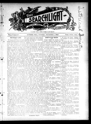 Primary view of object titled 'The Searchlight (Guthrie, Okla.), No. 447, Ed. 1 Tuesday, December 11, 1906'.