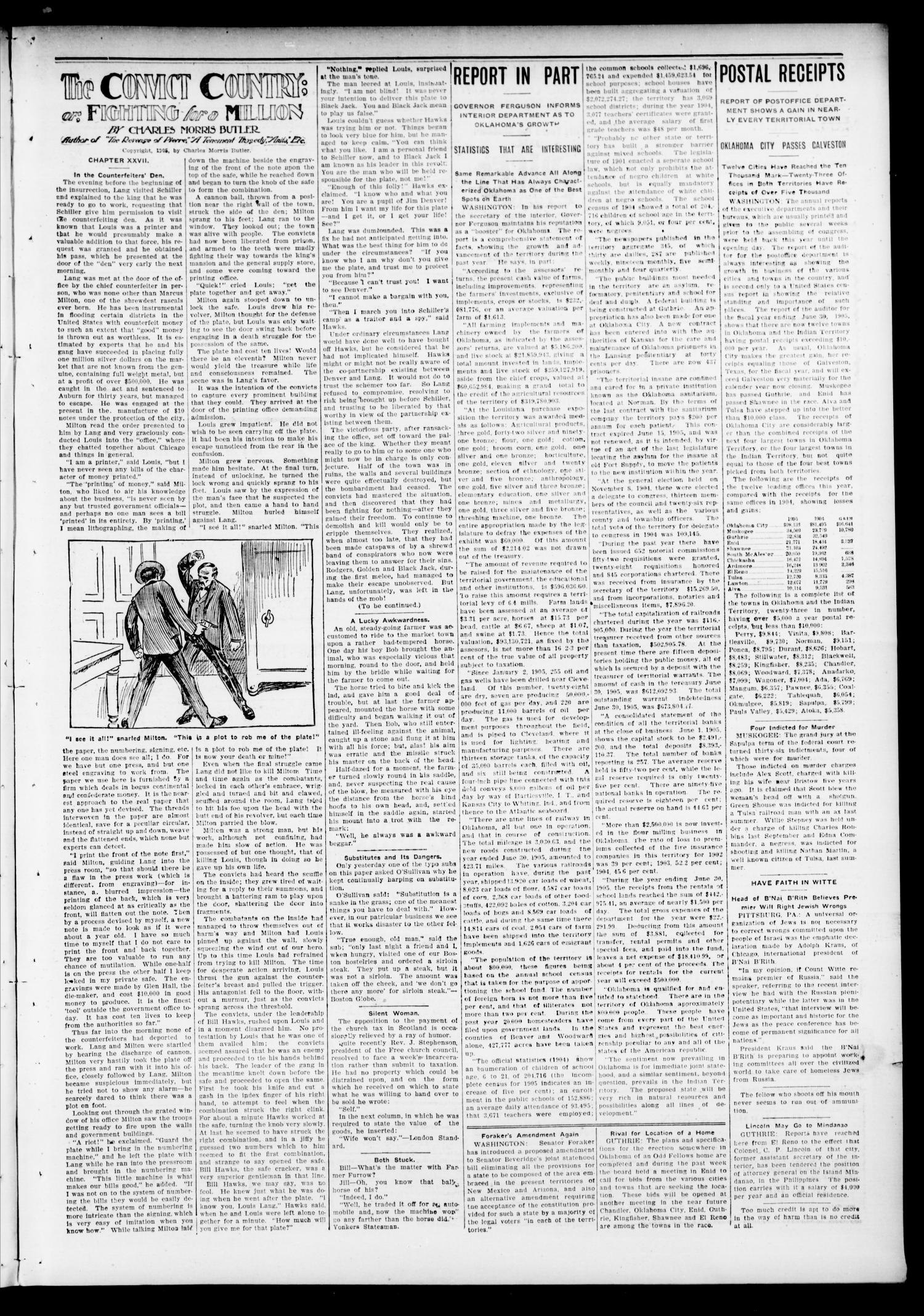 Mulhall Enterprise (Mulhall, Okla.), Vol. 13, No. 50, Ed. 1 Friday, December 15, 1905                                                                                                      [Sequence #]: 3 of 8
