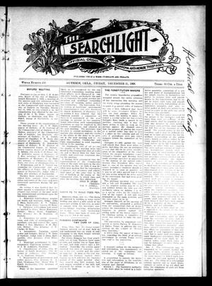 Primary view of object titled 'The Searchlight (Guthrie, Okla.), No. 450, Ed. 1 Friday, December 21, 1906'.