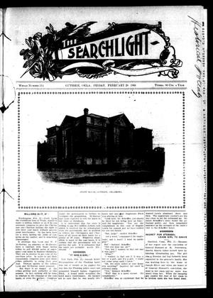 Primary view of object titled 'The Searchlight (Guthrie, Okla.), No. 514, Ed. 1 Friday, February 28, 1908'.