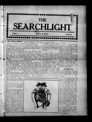 Primary view of object titled 'The Searchlight (Cushing, Okla.), Vol. 2, No. 46, Ed. 1 Wednesday, October 4, 1911'.