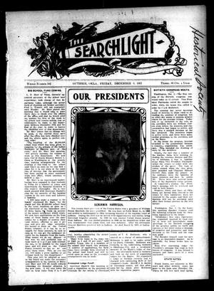 Primary view of object titled 'The Searchlight (Guthrie, Okla.), No. 502, Ed. 1 Friday, December 6, 1907'.