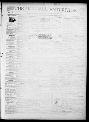 Primary view of object titled 'The Mulhall Enterprise. (Mulhall, Okla. Terr.), Vol. 3, No. 26, Ed. 1 Saturday, June 27, 1896'.